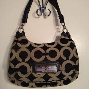 Coach Kristen OP Art shoulder bag.